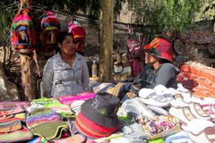 Quechua women working at the market Stock Photography