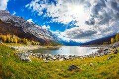 Queda ao parque nacional de jaspe Imagens de Stock