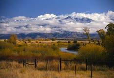 Queda atrasada nas Montanhas Rochosas Fotos de Stock Royalty Free