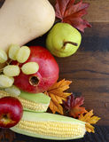 Queda Autumn Harvest Wood Background da ação de graças Fotografia de Stock