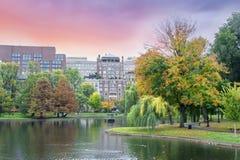 A queda colore Boston jardim comum e público Imagem de Stock Royalty Free