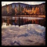 Queda colorida em Vermont Imagem de Stock