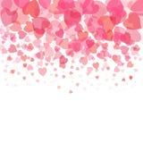 Queda cor-de-rosa do coração no fundo branco ilustração royalty free