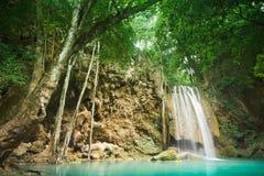 Queda da água de Erawan. Fotos de Stock Royalty Free