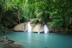 Queda da água de Erawan Fotos de Stock Royalty Free
