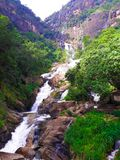 Queda da água de Rawana fotografia de stock