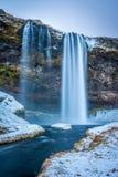 Queda da água de Seljalandsfoss Imagem de Stock
