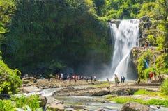 Queda da água de Tegenungan Foto de Stock
