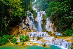 Queda da água do si de Kuang Fotos de Stock
