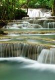 Queda da água na floresta profunda Fotografia de Stock Royalty Free