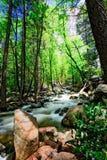 Queda da água no parque nacional de Yosemite, Califórnia Imagens de Stock Royalty Free