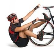 Queda da bicicleta Fotografia de Stock