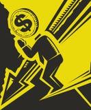 Queda da economia ilustração stock