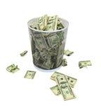 Queda da economia Fotografia de Stock Royalty Free