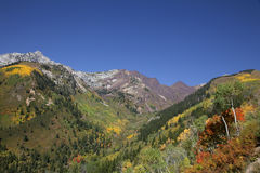 Queda da montanha rochosa Fotos de Stock Royalty Free