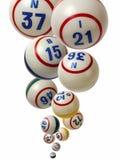 Queda das bolas do Bingo Fotos de Stock Royalty Free