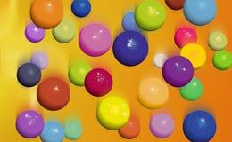 Queda das esferas ilustração stock