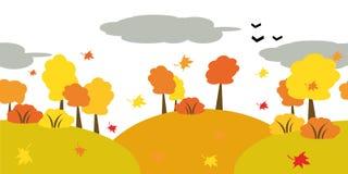 Queda das folhas na floresta Imagens de Stock Royalty Free