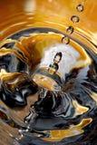 Queda das gotas da água Foto de Stock Royalty Free