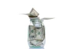 Queda das notas de dólar fora dos bancos Imagem de Stock Royalty Free