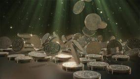 Queda de Bitcoins rendição 3d ilustração do vetor