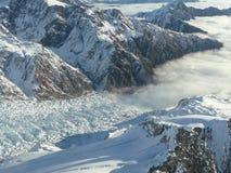 Queda de gelo de Franz Josef Imagens de Stock