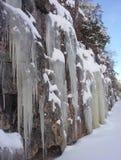 Queda de gelo imagens de stock