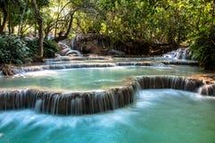 Queda de Kouang Xi, Laos Foto de Stock Royalty Free
