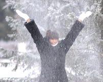 Queda de neve Imagens de Stock Royalty Free