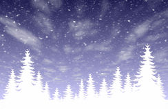 Queda de neve & floresta Fotos de Stock