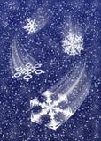 Queda de neve B1 Ilustração Stock