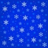Queda de neve da meia-noite Fotografia de Stock