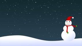Queda de neve do Natal de Loopable Fotografia de Stock