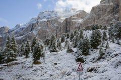 Queda de neve Dolemites fotos de stock royalty free