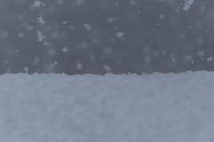 Queda de neve e neve Imagens de Stock