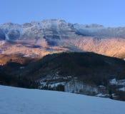 Queda de neve no parque natural de Aizkorri-Aratz Imagem de Stock Royalty Free
