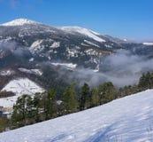 Queda de neve no parque natural de Aizkorri-Aratz Fotografia de Stock