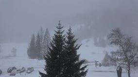 Queda de neve no vale de Kalser, Áustria filme