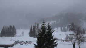 Queda de neve no vale de Kalser, Áustria video estoque