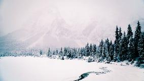 Queda de neve nos cumes italianos Foto de Stock Royalty Free