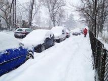 Queda de neve pesada Imagem de Stock