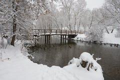 Queda de neve pesada em Moscovo Imagem de Stock Royalty Free