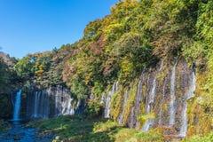 Queda de Shiraito, cachoeira de A em Fujinomiya no Shizuoka, Imagem de Stock