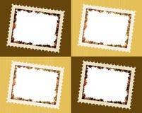 A queda deixa frames da foto ilustração stock