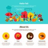 Queda do design web olá! ilustração stock