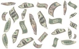 Queda do dinheiro Imagens de Stock Royalty Free