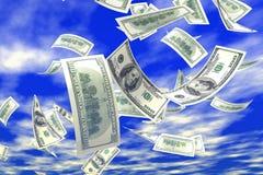 queda do dinheiro 3d Fotografia de Stock Royalty Free
