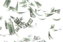 queda do dinheiro 3d imagens de stock