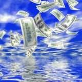 queda do dinheiro 3d Imagem de Stock