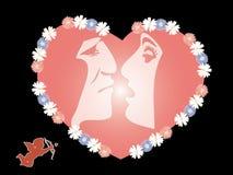 Queda do homem e da mulher no amor Ilustração do Vetor